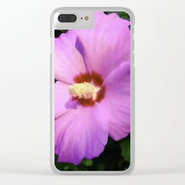 Rose OF Sharon In Mid Summer Clear iPhone Case