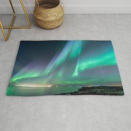 Galaxy Watercolor Aurora Borealis Rug