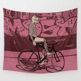Underground Cat Rider Wall Tapestry