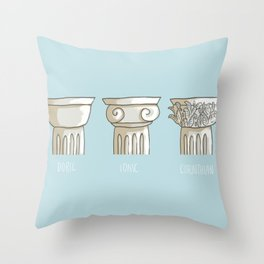 classic columns orders Throw Pillow
