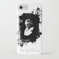 beethoven iPhone & iPod Cases featuring Beethoven by viva la revolucion