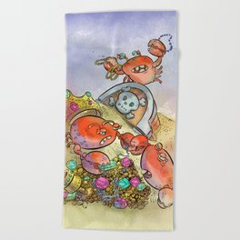 Buried Treasure Beach Towel