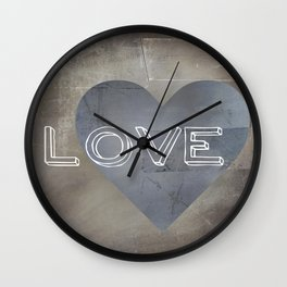 One Love One Heart Wall Clock