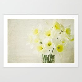 Dreamy Flowers Art Print