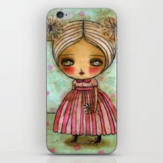 Dandelion Girl in Red And Pink iPhone & iPod Skin