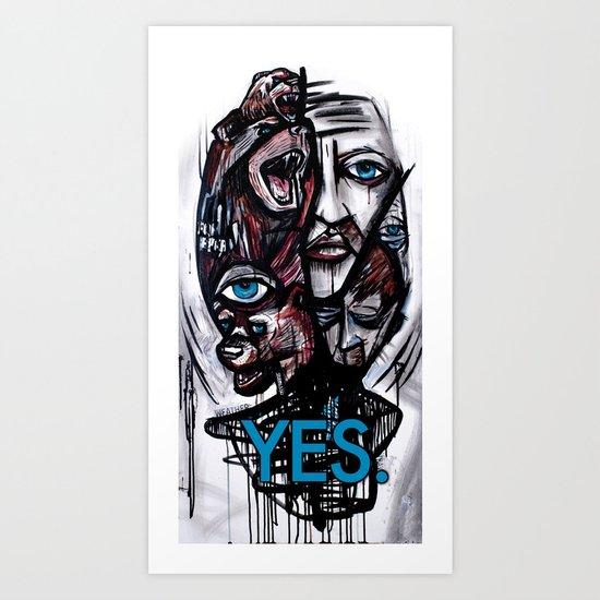 YES bear Art Print