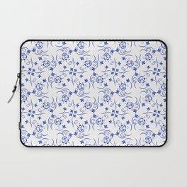 Pattern of little blue flowers Laptop Sleeve
