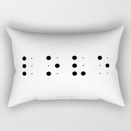 Love in Braille Rectangular Pillow