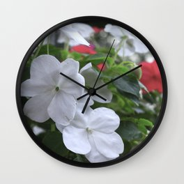 spring flowers photo colored Wall Clock