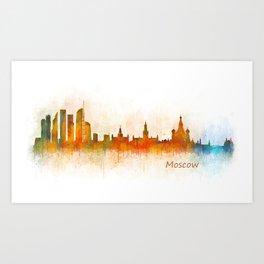 Moscow City Skyline art HQ v3 Art Print