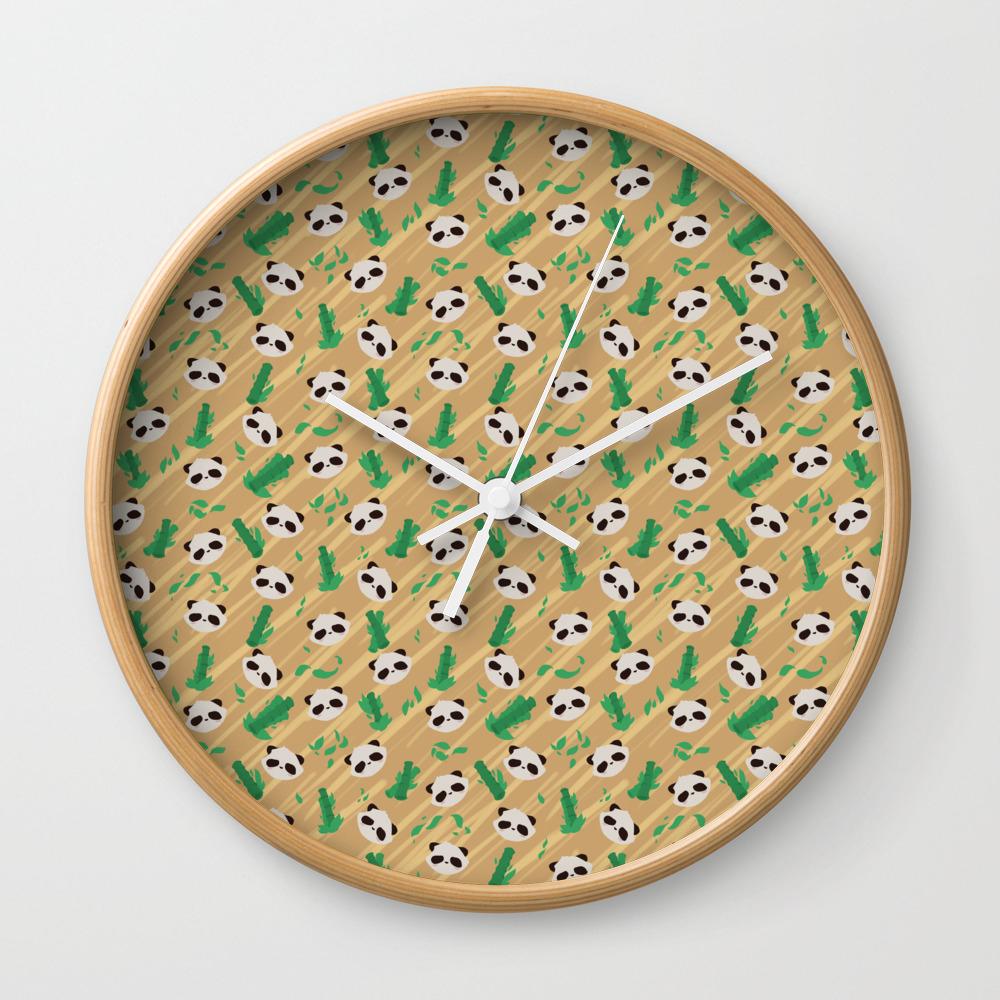 Panda Bamboo Pattern Wall Clock by Faraday CLK8564620