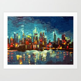 Abstract NYC Skyline Art Print