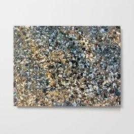 Beach Shell Sand Metal Print