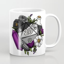 Pride Asexual D20 Tabletop RPG Gaming Dice Coffee Mug