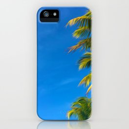 Palm Trees and Blue Sky - Horizontal iPhone Case