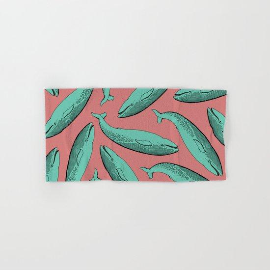calm whale pattern Hand & Bath Towel