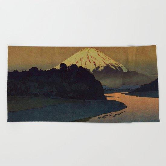 Sunset at Aga Beach Towel