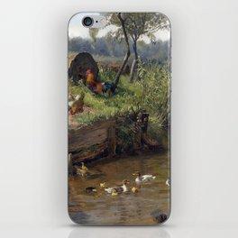 Carl Jutz Duck Family at the Weir iPhone Skin