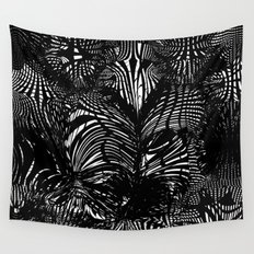 black stripes chaos Wall Tapestry