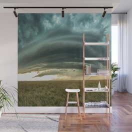 Filling the Void - Layered Storm in Western Nebraska Wall Mural