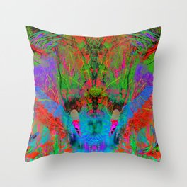 Ocular Fire (psychedelic, visionary) Throw Pillow