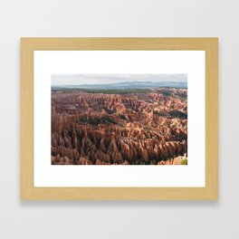 inspiration point - bryce canyon Framed Art Print