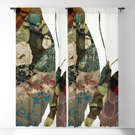 Butterfly Brocade I Blackout Curtain
