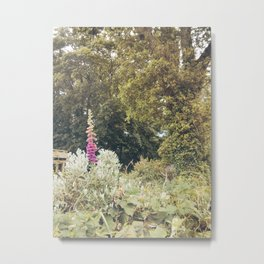 Over Gardens and Hedgerows Metal Print