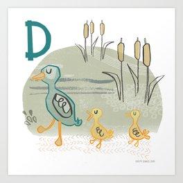 """D"" Art Print"