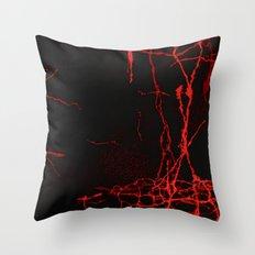 Horror -Dark Red- Throw Pillow