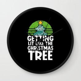 Getting Lit Like the Christmas Tree Wall Clock
