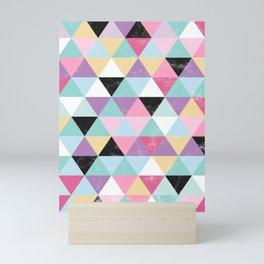 Abstract Vector Pattern Op-art - Triangle Art Mini Art Print
