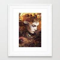 autumn Framed Art Prints featuring Autumn by AlexToothArt