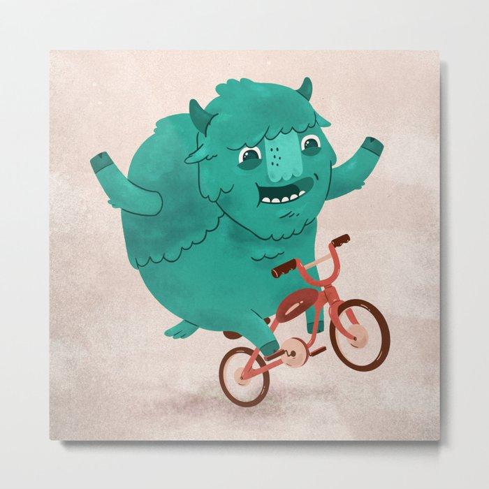 Bicycle Buffalo Metal Print