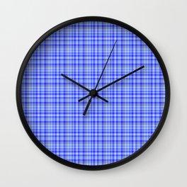Tartan Blue Wall Clock