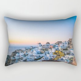 suset in Santorini Rectangular Pillow