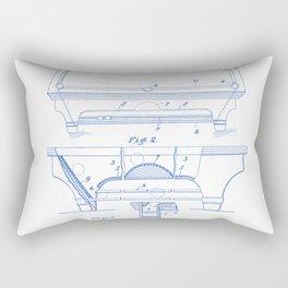 Billiard Table Vintage Patent Hand Drawing Rectangular Pillow