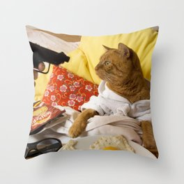 Wait what ? Throw Pillow