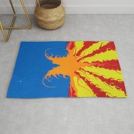 Arizona Flag Fluid Art Style 2 Rug