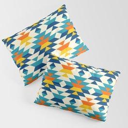 Bohemian large aztec diamonds blue pattern Pillow Sham