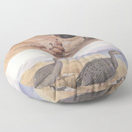 Neville W. Cayley - What Bird Is That? (1931) - Southern Cassowary and Cape Barron Goose Floor Pillow