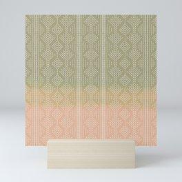 Moss/Peach Ombre needlepoint Mini Art Print