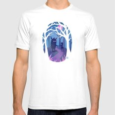 Making Friends with Monsters MEDIUM White Mens Fitted Tee