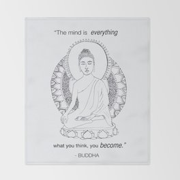 The Mind is Everything Throw Blanket