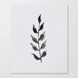 Baesic Mono Floral (Leaf 2) Canvas Print