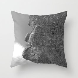 SHAPE OF A FACE STONE Throw Pillow