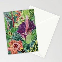 Amazon jungle frogs rafflesia flower  Stationery Cards