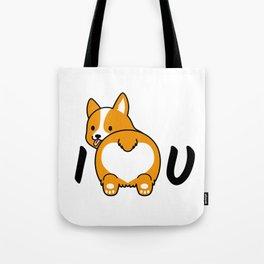 I love corgis and you Tote Bag