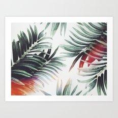 Vintage plants Art Print