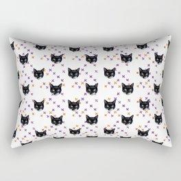 Cute Tuxedo Cat Faces with Pink Cross Bandaids Rectangular Pillow